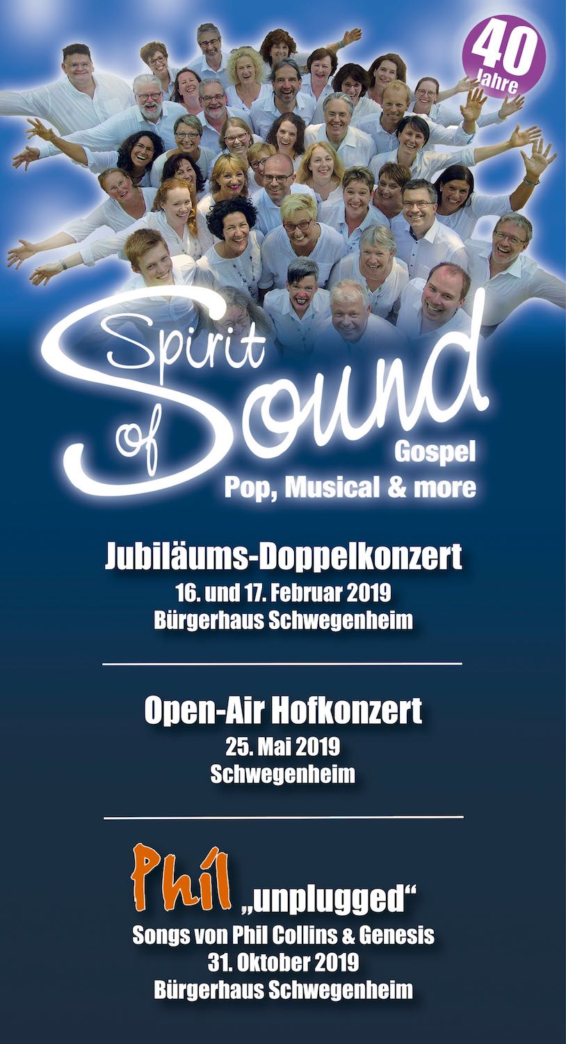 40 Jahre Spirit of Sound! Wow!!!